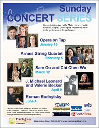 Sunday Concert Series: Sam Ou and Chi Chen thumbnail Photo