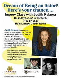 Dream of Being an Actor? Here's Your Chance…. Improv Class with Judith Kalaora thumbnail Photo