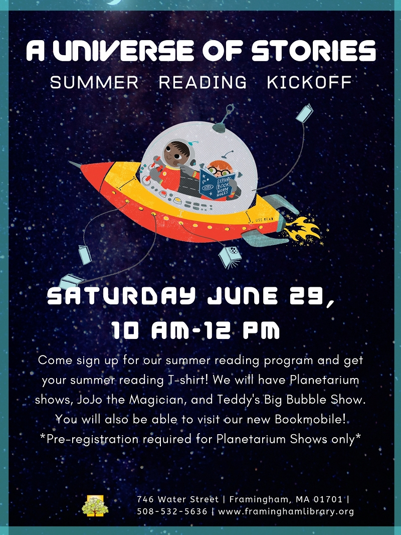 """A Universe of Stories"" Kids Summer Reading Kickoff thumbnail Photo"