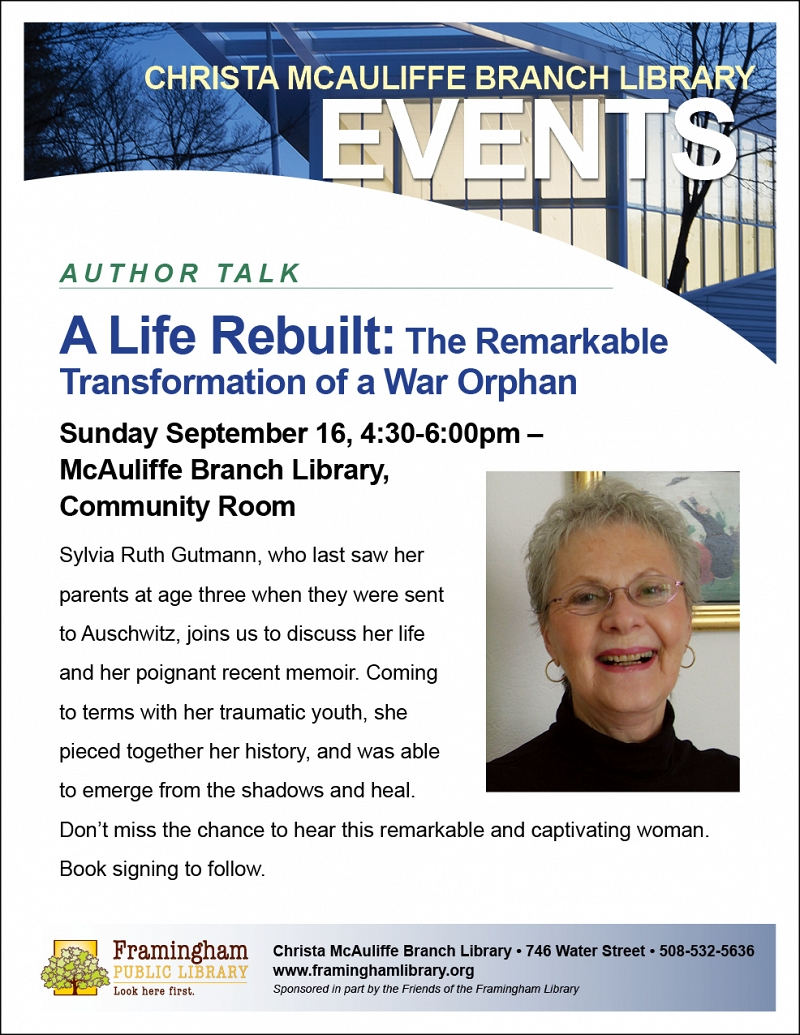 Author Talk: Sylvia Gutmann's A Life Rebuilt: The Remarkable Transformation of a War Orphan thumbnail Photo