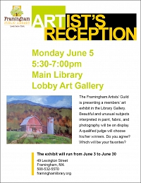 Artist's Reception: Framingham Artists' Guild thumbnail Photo