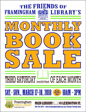 poster of Monthly Book Sale, March 2018