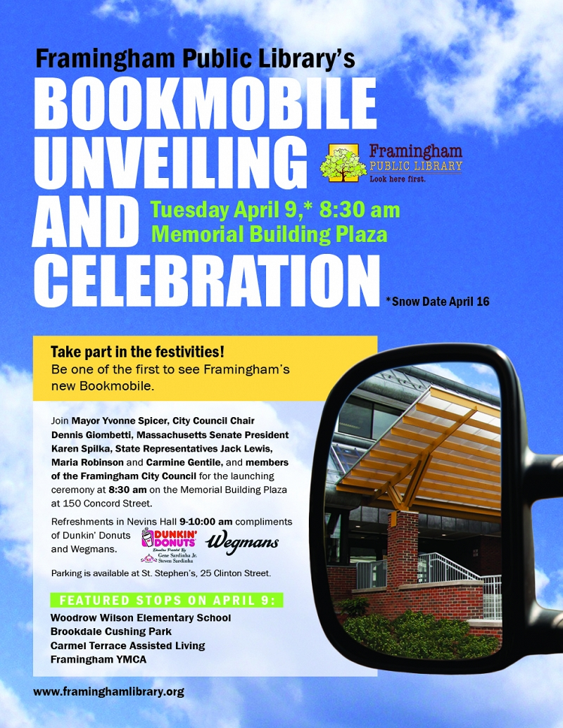 Framingham Public Library's Bookmobile Unveiling and Celebration thumbnail Photo