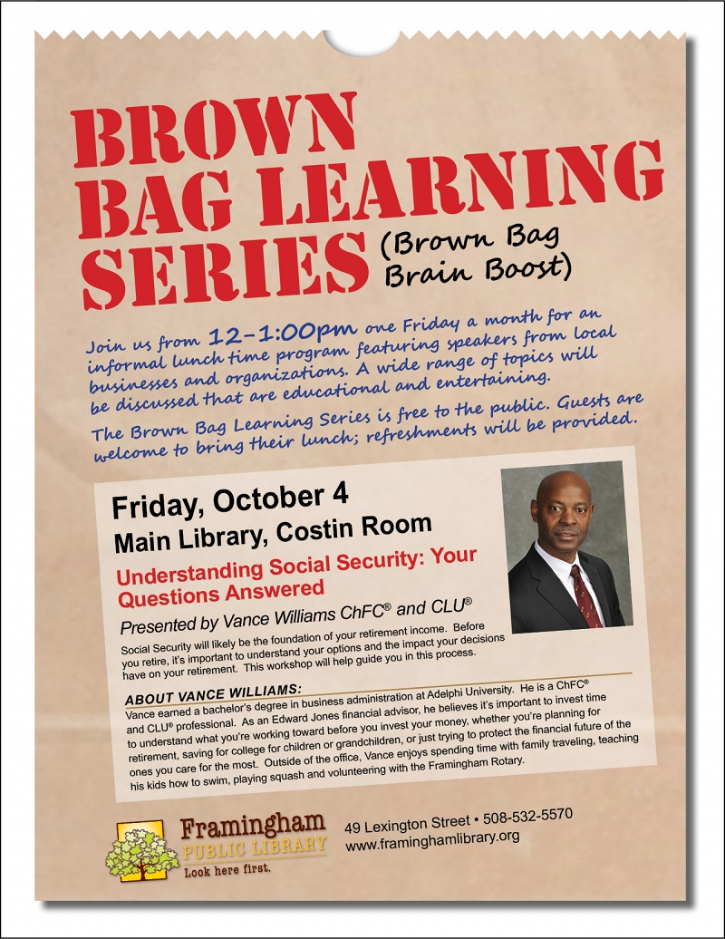Brown Bag Learning Series: Understanding Social Security: Your Questions Answered thumbnail Photo