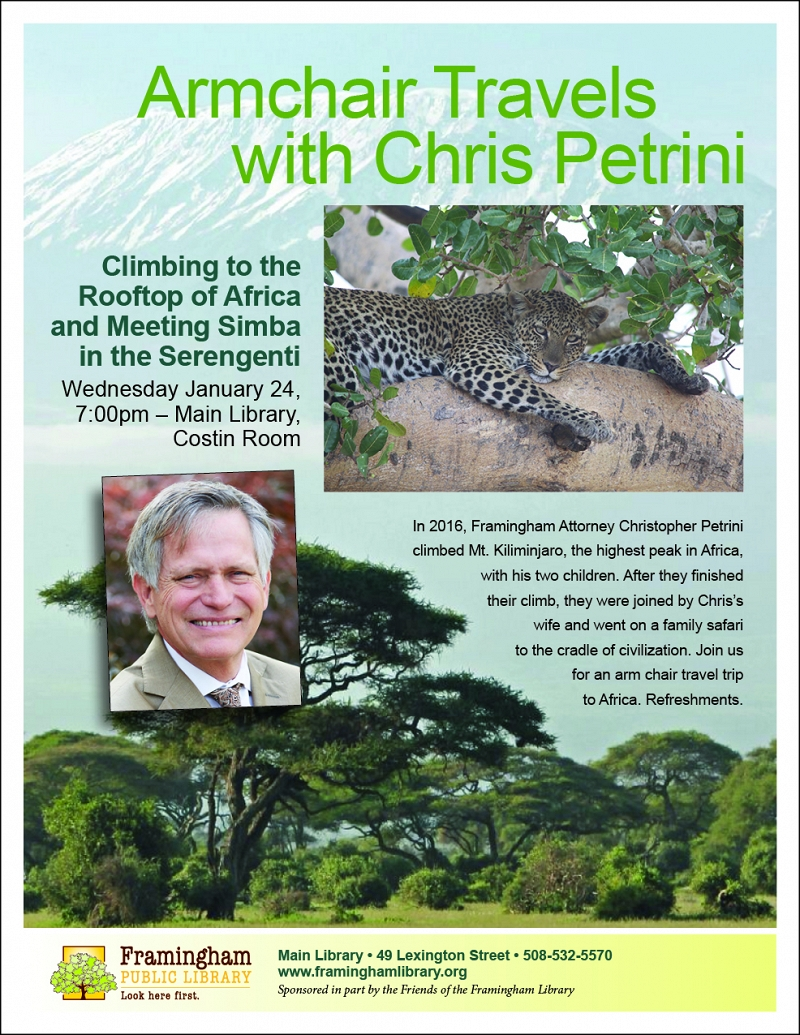 Armchair Travels with Chris Petrini – Climbing to the Rooftop of Africa thumbnail Photo