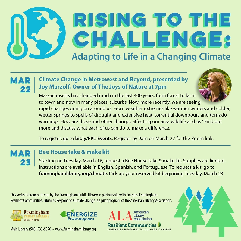 Changing Climate Series: Climate Change in Metrowest and Beyond thumbnail Photo