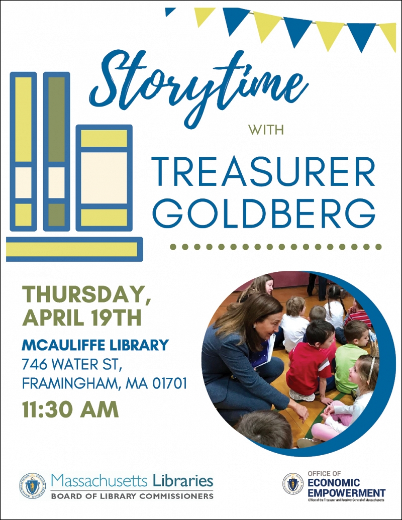 Special Storytime with State Treasurer Deb Goldberg thumbnail Photo
