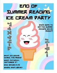 End of Summer Reading Ice Cream Party! thumbnail Photo
