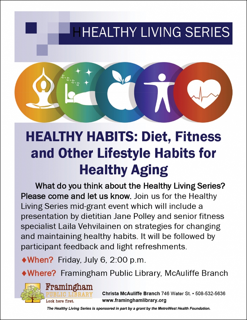 Healthy Living Series: Healthy Habits: Diet, Fitness and Other Lifestyle Habits for Healthy Aging thumbnail Photo