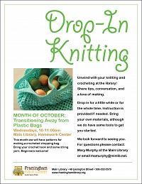 Main Library Knitting Group: Transitioning Away from Plastic Bags: thumbnail Photo