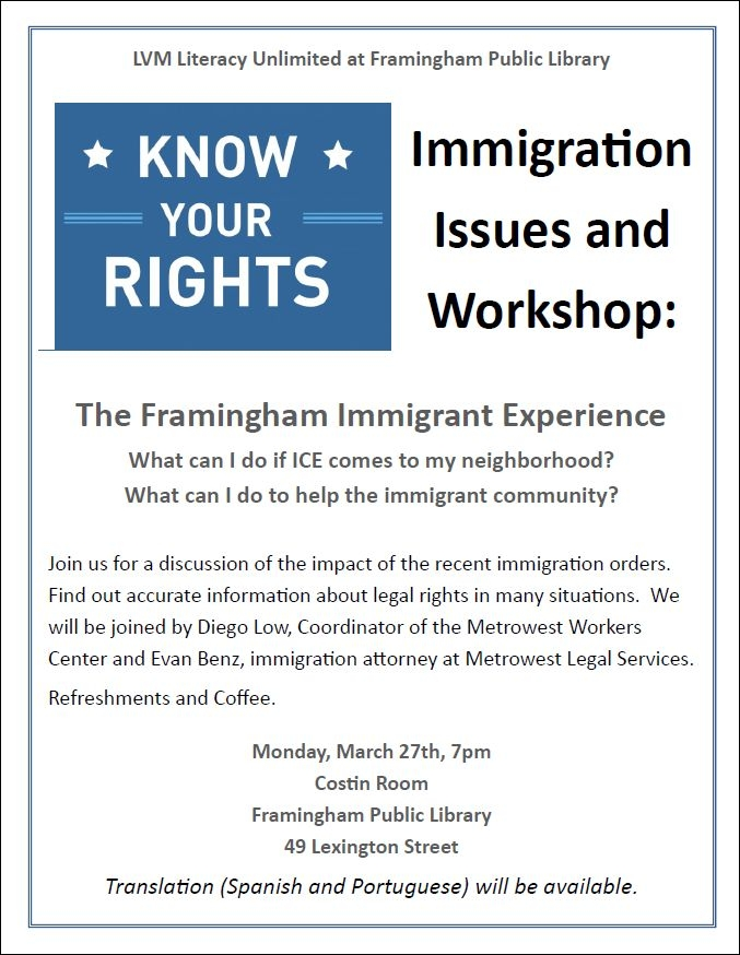 Know Your Rights: Immigration Issues and Workshop thumbnail Photo