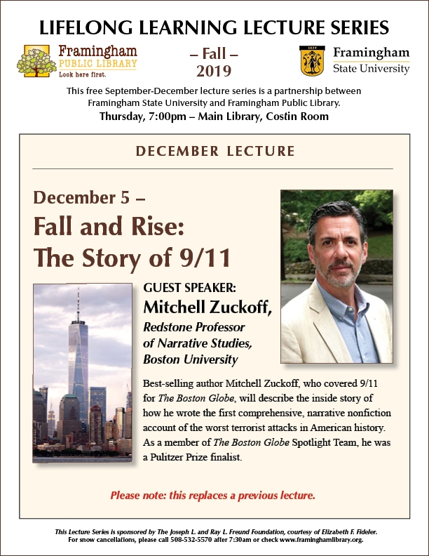 Lifelong Learning Lecture: Fall & Rise: The Story of 9/11 thumbnail Photo