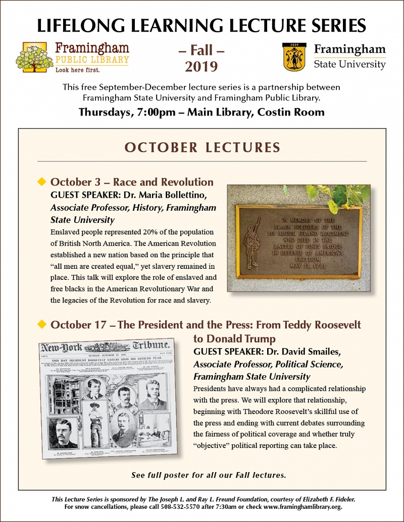 Lifelong Learning Lecture: The President and the Press: From Teddy Roosevelt to Donald Trump thumbnail Photo