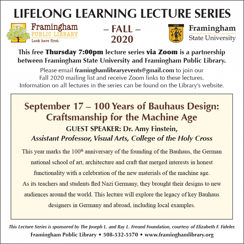 Lifelong Learning Lecture Series: 100 Years of Bauhaus Design: Craftsmanship for the Machine Age thumbnail Photo