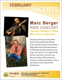 Marc Berger: RIDE Concert thumbnail Photo