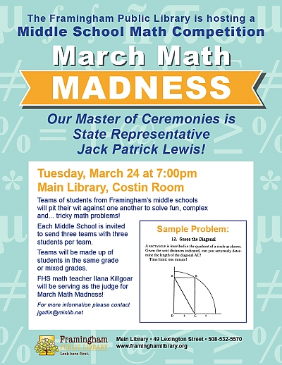March Math Madness poster