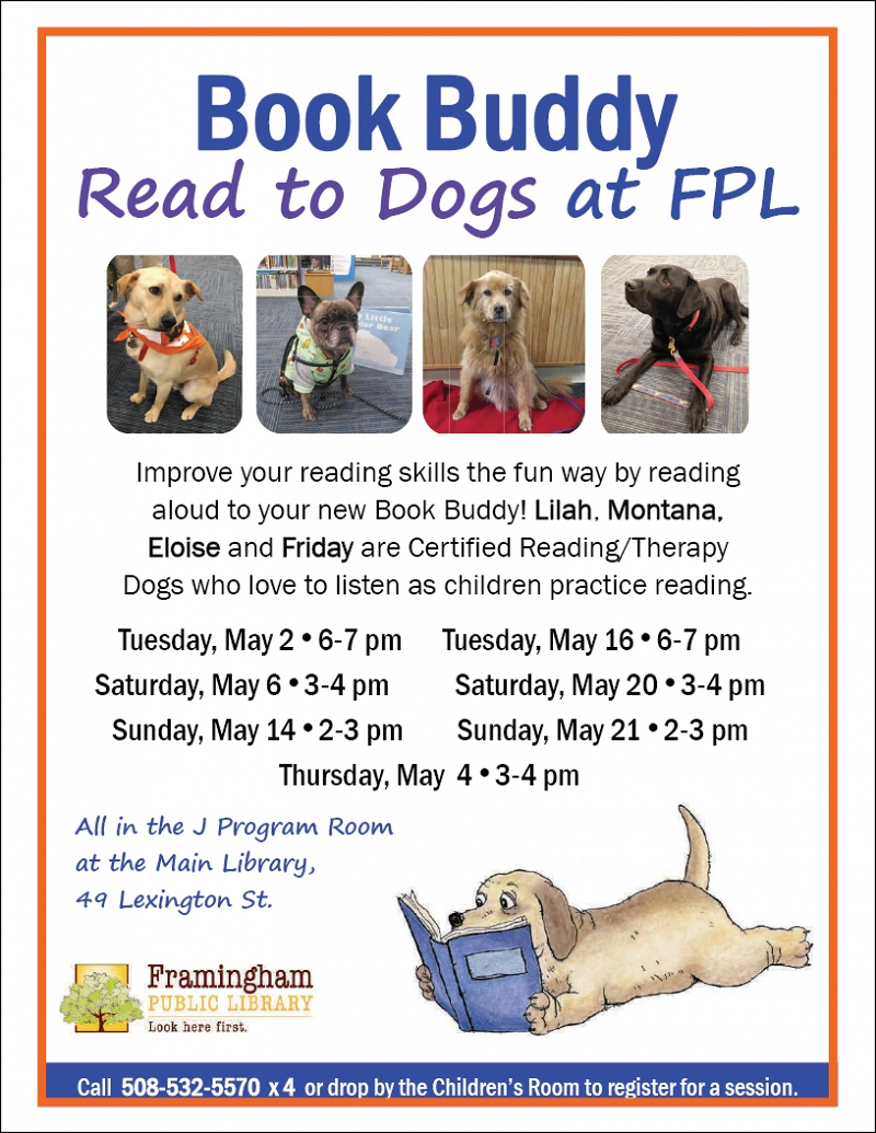 Book Buddy Reading to Dogs thumbnail Photo
