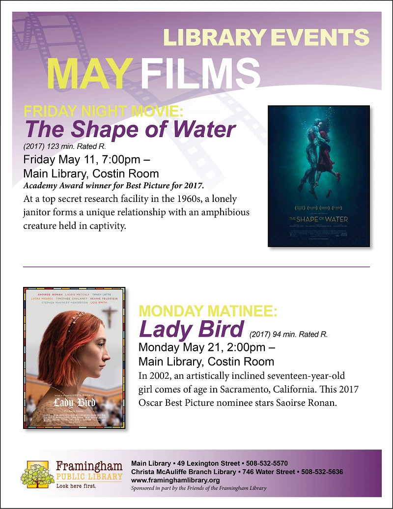 Calendar Quotes From The Shape Of Water : Events calendar framingham public library