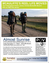 PBS's POV Movie Series: Almost Sunrise thumbnail Photo