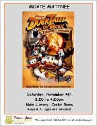 Movie Matinee: DuckTales, the Movie: Treasure of the Lost thumbnail Photo