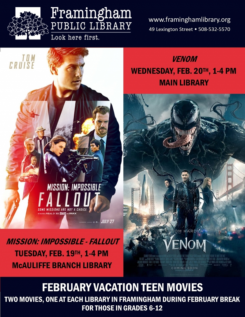 February Break Teen Movie at the McAuliffe Branch - Mission: Impossible Fallout thumbnail Photo