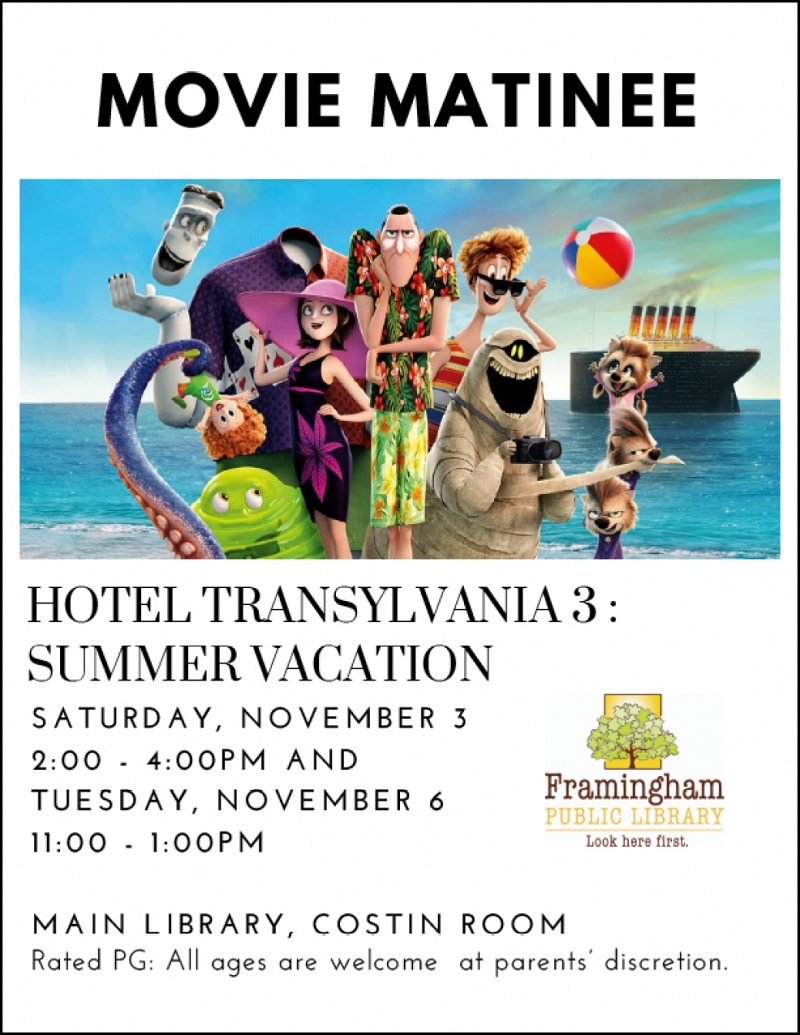 Movie Matinee: Hotel Transylvania 3: Summer Vacation thumbnail Photo