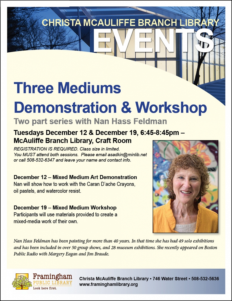 Three Mediums Demonstration & Workshop thumbnail Photo