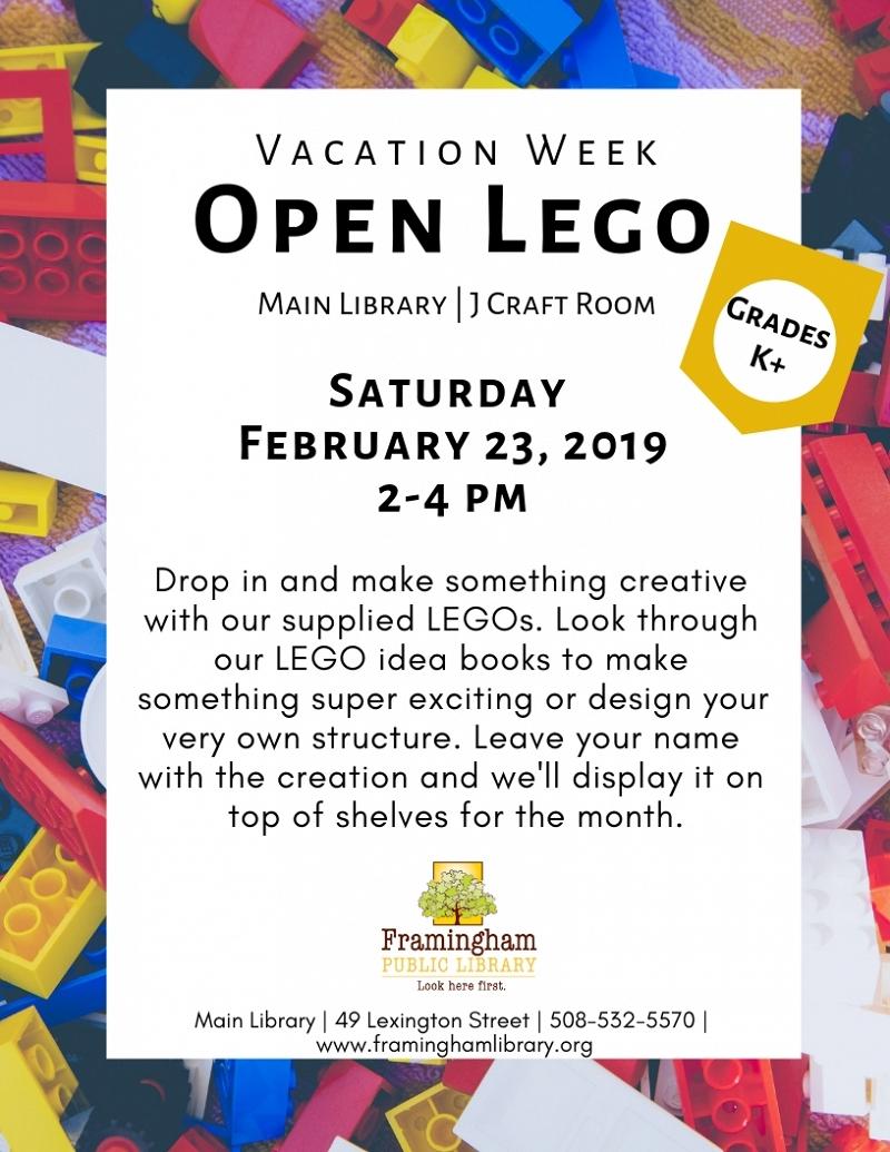 Lego February 2020 Calendar Events Calendar | Framingham Public Library