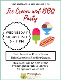 Summer Reading BBQ and Ice Cream Party! thumbnail Photo