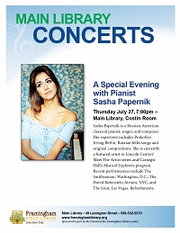 A Special Evening with Pianist Sasha Papernik thumbnail Photo