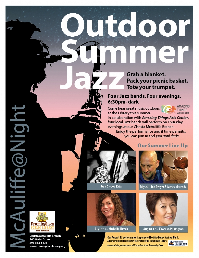 McAuliffe@Night: Outdoor Summer Jazz Performances and Jams thumbnail Photo