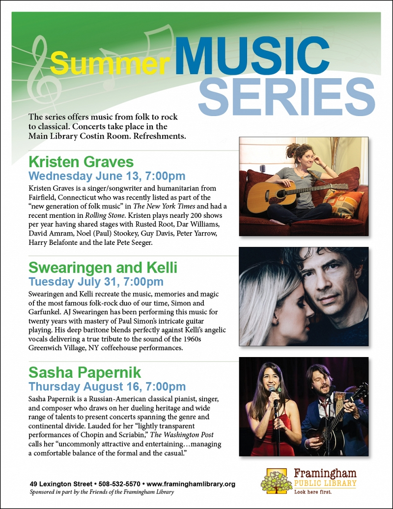 Summer Music Series: Swearingen and Kelli thumbnail Photo