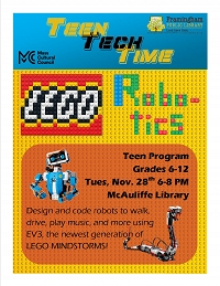 Teen Tech Time - Lego Robotics thumbnail Photo