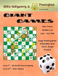 Teen Tuesdays: Giant Games! thumbnail Photo