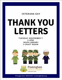 Veterans Day Letters Open Craft thumbnail Photo