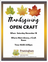 Thanksgiving Open Craft thumbnail Photo
