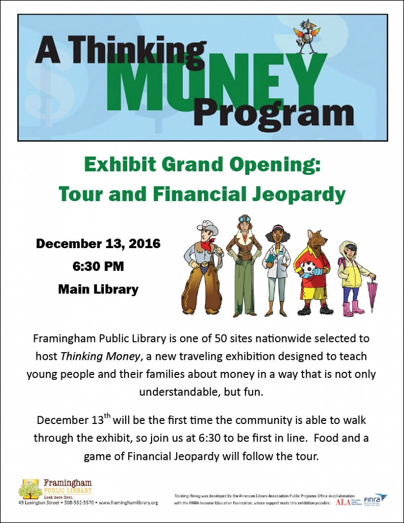 Thinking Money: Exhibit Grand Opening, Tour, and Financial Jeopardy thumbnail Photo