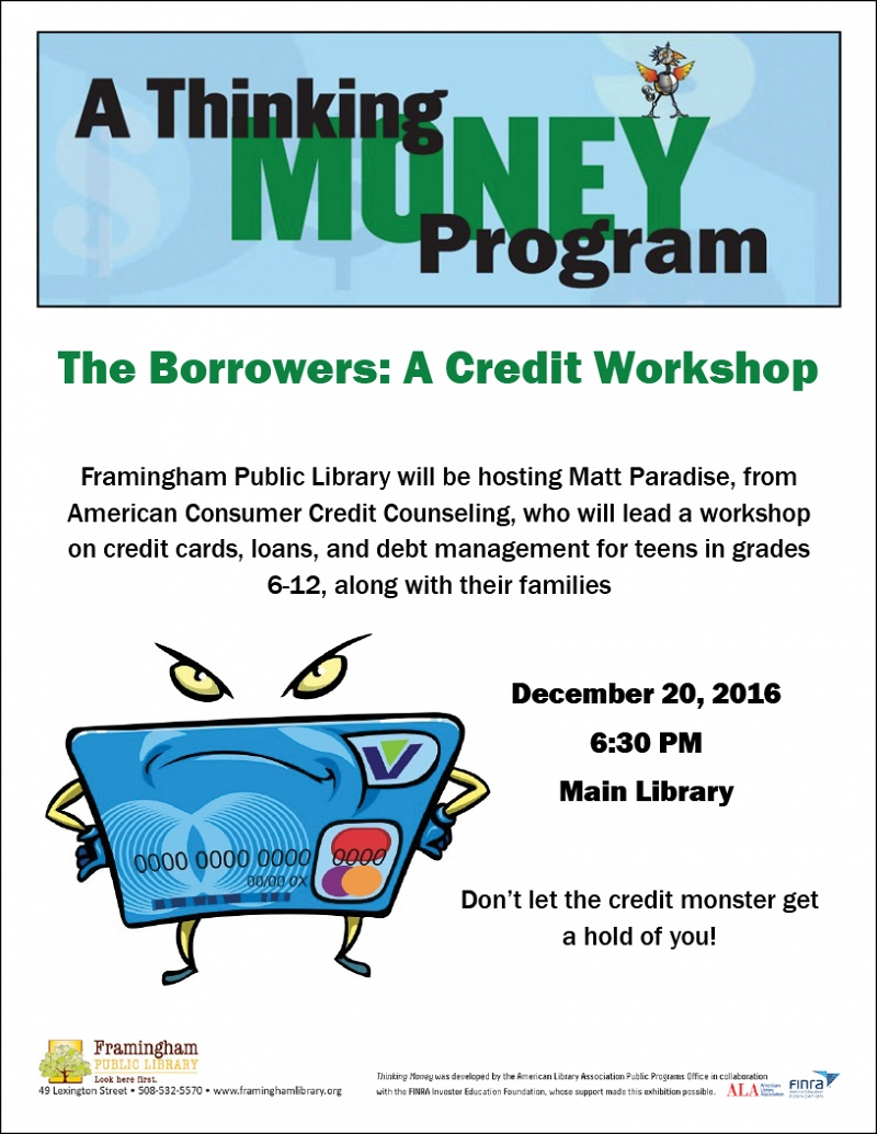 Thinking Money: The Borrowers - A Credit Workshop thumbnail Photo