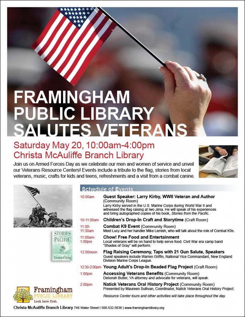 FRAMINGHAM PUBLIC LIBRARY SALUTES VETERANS! thumbnail Photo