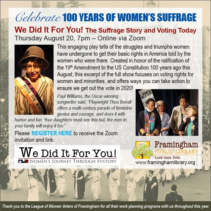 We Did it for You! The Suffrage Story and Voting Today thumbnail Photo