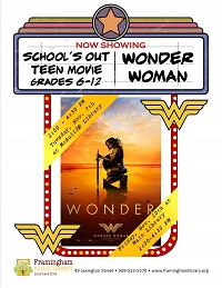 School's Out Movie at McAuliffe: Wonder Woman thumbnail Photo
