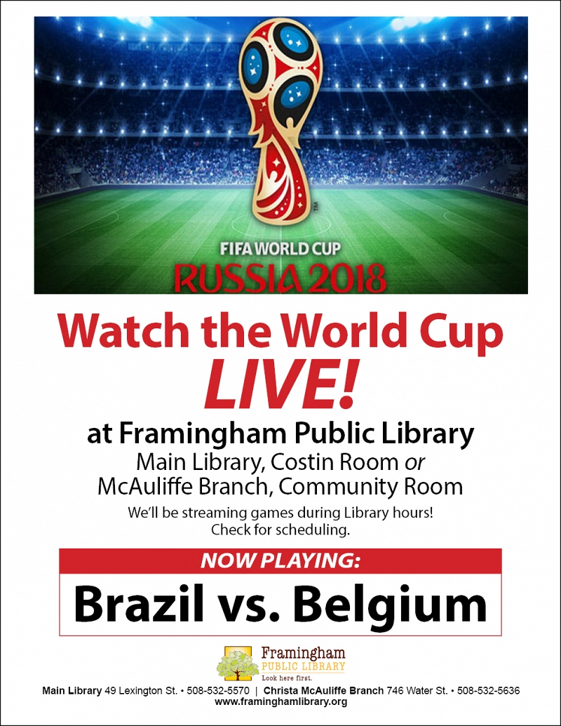 Watch the World Cup Live on the Big Screen: Brazil vs. Belgium thumbnail Photo