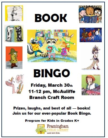 Book Bingo at McAuliffe thumbnail Photo