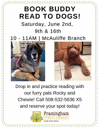 Book Buddy: Read to Dogs at McAuliffe thumbnail Photo