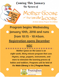 Mother Goose on The Loose: Registration Now Open thumbnail Photo
