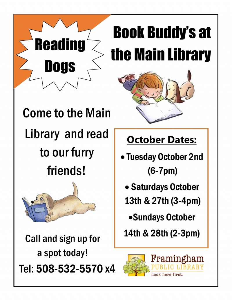 Book Buddy Read to Dogs: October Dates! thumbnail Photo