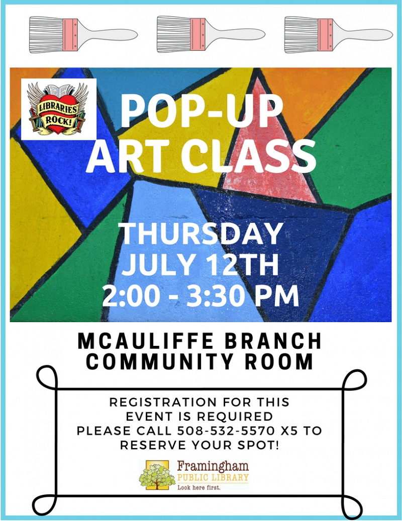Pop-Up Art Class at McAuliffe thumbnail Photo