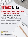 TecTalk: Online Shopping Tips and Tricks graphic