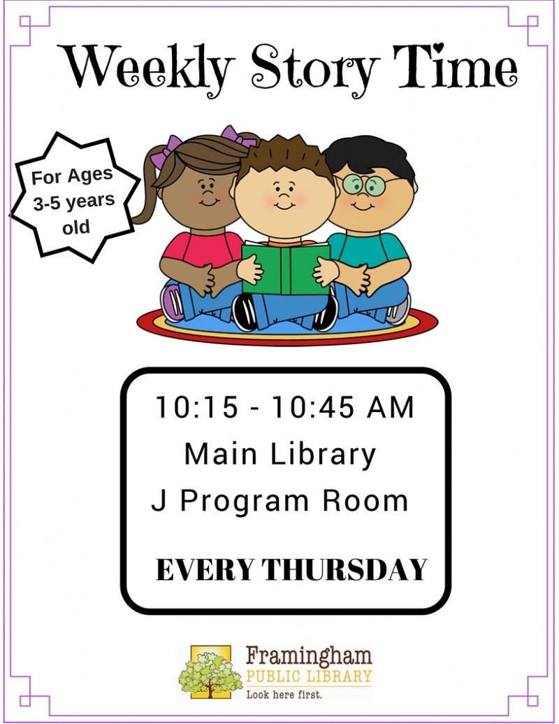 Weekly StoryTimes at Main Library thumbnail Photo