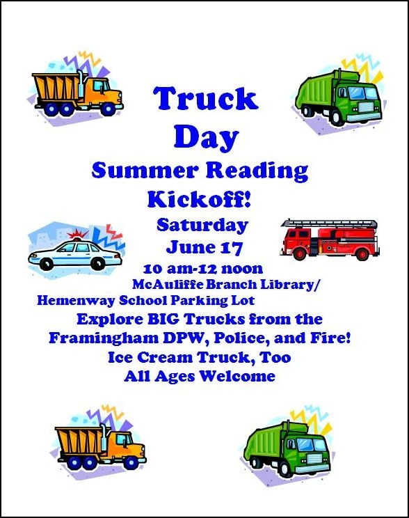 TRUCK DAY – Build a Better World Summer Reading Kickoff! thumbnail Photo